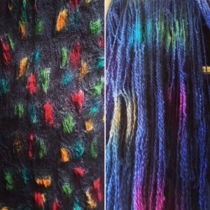 On the dye table (left) and drying (on the right)