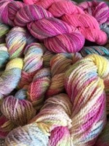 Luscious rainbow hanks