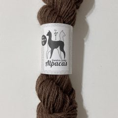 chocolate brown alpaca yarn 8ply 50gm