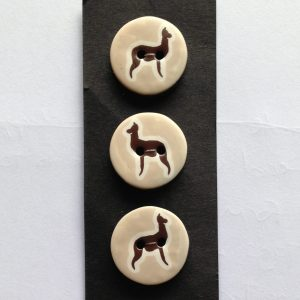 alpaca buttons set of 5 polymer clay machine washable