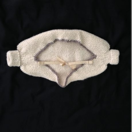 Lg Shrug w crochet edges
