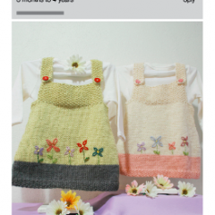 Knitted Garden Whisper pinafore easy knitting alpaca 8ply nz pattern