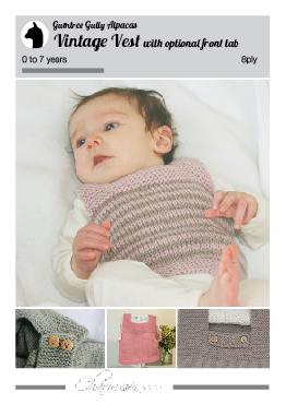 vintage vest pattern knitting 8ply nz designer