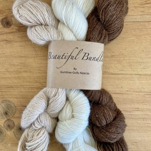 Beautiful Bundle Natural NZ Made Alpaca Yarn
