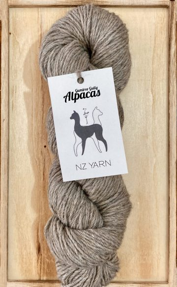 Slate Possum Polworth 8ply yarn
