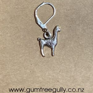 Knitting Crocheting Stitch Markers, alpaca, silver, open marker