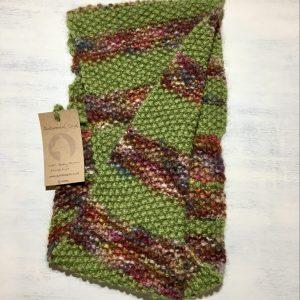 infinity cowl chunky yarn baby alpaca hand knit