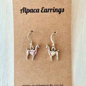 Alpaca earrings silver