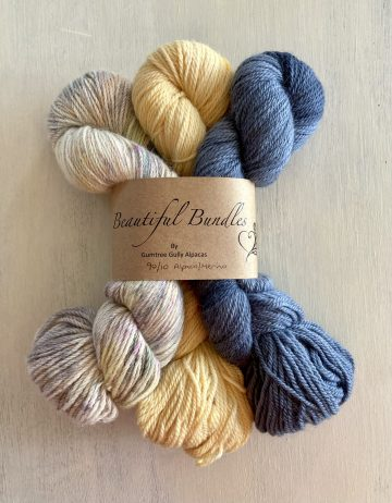 Grey/Yellow Bundle Yarn